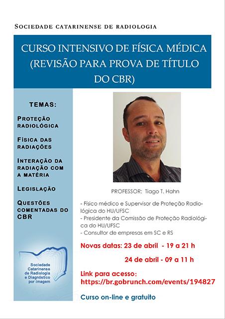 CURSO INTENSIVO DE FÍSICA MÉDICA (Revsião para prova de título do CBR)